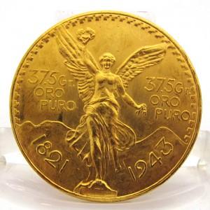 Pièce d'or mexicaine - 50 pesos avers